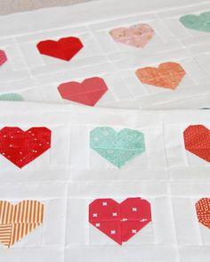 Simple Heart Quilt + Tutorial | Cluck Cluck Sew | Bloglovin'