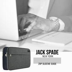 Jack Spade Newyork Zip Sleeve Case series for Macbook upto 13 inch