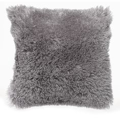 Wilko Cushion Pale Grey 43x43cm. Fluffy pillow for decoration, cosy and comfy pillows                                                                                                                                                                                 More