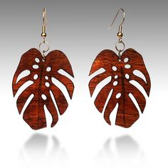 Monsterra Earrings by Islandium on Etsy, $25.00