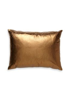 Metallic Leather Pillow by Libra Leather on Gilt Home