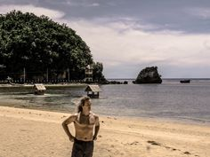 I was all alone here at Twin Rock Beach on Catanduanes, Philippines.