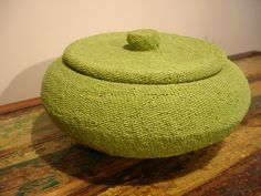 """Beaded Covered #Basket 