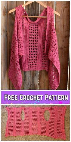 : Crochet XOXO Summer Vest Free Crochet Pattern   - Craft ideas #tejer #tejergratis #tejerdosagujas #tejerbufandas #tejersombreros Cardigan Au Crochet, Gilet Crochet, Crochet Vest Pattern, Crochet Jacket, Crochet Shawl, Knitting Patterns, Knit Crochet, Crochet Patterns, Free Pattern
