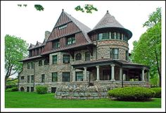 Copshaholm in South Bend. The Joseph D. Oliver mansion was Built in 1895-96 in South Bend, Indiana as a 38-room Romanesque Queen Anne style house. Joawph Oliver was founder of the Oliver Chilled Plow Works in South Bend, IN, USA.