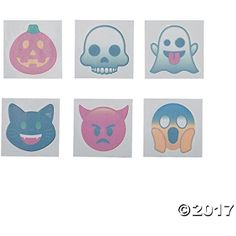 Halloween Emoji Tattoos (Pack of 72) *** Visit the image link more details. (This is an affiliate link) #TemporaryTattoos