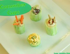 Cucumber Cups | Healthy Ideas for Kids