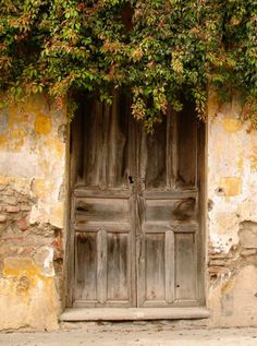 Beautiful sagging old door.