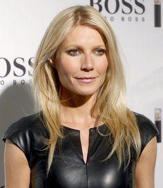Gwyneth Paltrow tight  leather  top.