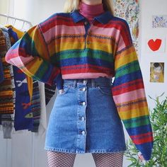 i would wear this 😁 who you? Indie Outfits, Retro Outfits, Cute Casual Outfits, Vintage Outfits, 80s Fashion, Vintage Fashion, Fashion Outfits, Aesthetic Fashion, Aesthetic Clothes