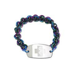 Mini Mail Bracelet - Small Emblem - No Clasp - Peacock