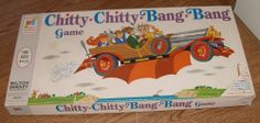 1968 Chitty Chitty Bang Bang Vintage Board Game Milton Bradley Great Used Toy