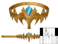 Template for Princess Zelda Crown by TheFoamCave on Etsy