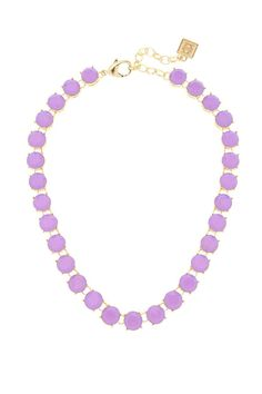 "Beautiful and bright this round purple crystal necklace will be a welcomed addition to your spring and summer wardrobe. This trendy fashion necklace can be dressed up or down layered or worn on its own!  Necklace is approximately 16"" long.  Purple Crystal Necklace by Wild Lilies Jewelry . Accessories - Jewelry - Necklaces Pennsylvania"