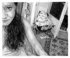 Webcam 24 · 2012 crayon sur papier12,5x15cmcollection particulière · Thomas Lévy-Lasne