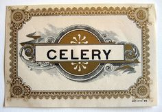 Celery - vintage soda label