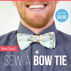 Handmade Father's Day Gifts Sew a Bow Tie for Dad