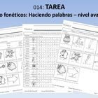 Tarea: Centro fonéticos: Haciendo palabras – nivel avanzado (81 pages)Homework Book: Matches Phonics Center Advanced LevelThis homework book has...