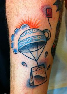 Cup Tea Bag tattoo By Sanchez , hunter and fox tattoo