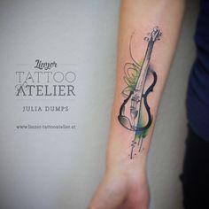 Scalp Tattoo, Z Tattoo, Blue Tattoo, Guitar Tattoo, Top Tattoos, Line Tattoos, Body Art Tattoos, Sleeve Tattoos, Tattoos Musik