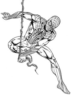 Download Or Print The Free Spiderman On Rope Coloring Page And Find Thousands Of Other