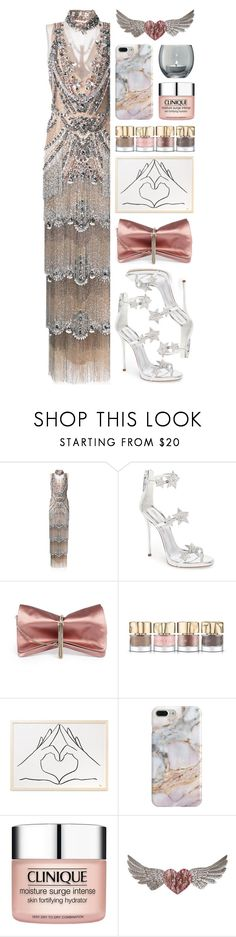 """""""★ 434: starlight shimmer"""" by yuuurei ❤ liked on Polyvore featuring Marchesa, Giuseppe Zanotti, Jimmy Choo, Smith & Cult, Recover, Clinique, PBteen, LSA International, RedCarpet and party"""