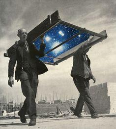 "Collage art & Illustrations by Sammy Slabbinck   ****Nathan Walsh's Dark Science Fiction Novel ""Pursuit of the Zodiacs."" Launching Soon! PursuitoftheZodiacs.com****"