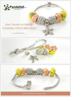 Easy Tutorial on Making Pandora Style Bracelet | easy crafts by wanting