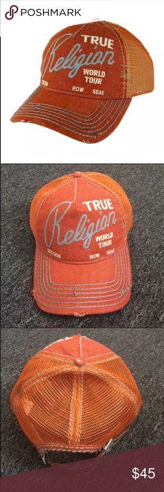 ab348874ef3 New True Religion Unisex Orange Hat Cap True Religion Unisex Hat Color   Orange Size