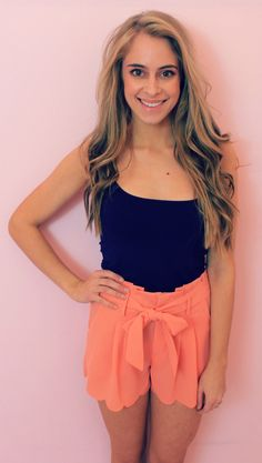 Scalloped shorts from Petal Boutique