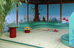 Childrens Playhouse, Sand Pit, Playhouses, Murals, Middle, Places, Projects, Litter Box, Log Projects
