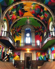 """Aus der leerstehende Kirche Santa Barbara in der spanischen Gemeinde Llanera, der autonomen Region Asturien wurde kürzlich der massiv beeindruckende """"Kaos Temple"""". Dem bereits im Jahr 1…"""