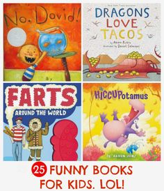 25 funny books for kids: parents share the books that truly get their kids giggling, laughing and cackling again and again. Great gift ideas here! Source by noflashcards Funny Books For Kids, Funny Pictures For Kids, Best Children Books, Funny Kids, Childrens Books, English Books For Kids, Read Aloud Books, Good Books, My Books