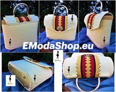 Materiál na kabelku objednáte na EModaShop.eu Olympia, Straw Bag, Tutorials, Bags, Youtube, Fashion, Handbags, Moda, Fashion Styles