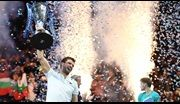 Grigor Dimitrov wins the Nitto ATP Finals trophy in his debut, defeating David Goffin in the final.