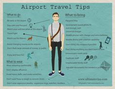 Airport Travel Tips via UltimateVisa.com