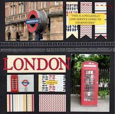 scrapbooking london | Layout: LONDON STREETS