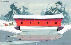 covered bridge Ralph Hulett