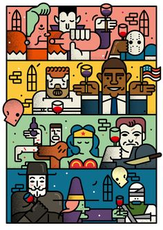Illustrations by Stefano Marra   Inspiration Grid   Design Inspiration