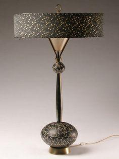 L is for luscious lamp, mid-century modern. Vintage Light Fixtures, Vintage Lamps, Vintage Home Decor, Vintage Table, Vintage Furniture, Lamp Inspiration, Retro Lamp, Mid Century Lighting, Cool Lamps