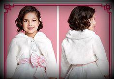 White flower girl jacket flower girl dress by juliettaboutique