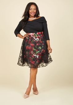 Secret Garden Floral Skirt. Add intrigue to your elegant aura by flaunting  this floral skirt e5427d0ee