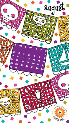Free Skelly Chic downloads for your phone & desktop at my blog! Party on, y'all; Happy August! www.skellychic.com