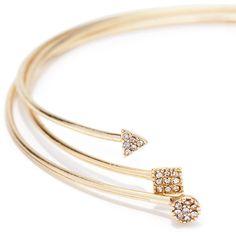 Forever 21 Rhinestone Bracelet Cuff Set ($7.90) ❤ liked on Polyvore
