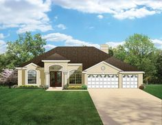 ePlans Mediterranean-Modern House Plan – Magnificent Master – 2448 Square Feet and 4 Bedrooms from ePlans – House Plan Code HWEPL76480