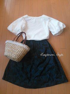 白い初夏のふんわりブラウス♪ | Leaflower LIVING ハンドメイド・ワイヤークラフト教室 毎日着る上品なワンピースやスカートを作ってます