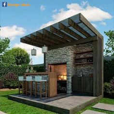 New Ideas For Diy Outdoor Kitchen Bar Patio Diy Outdoor Bar, Outdoor Kitchen Design, Outdoor Rooms, Outdoor Gardens, Outdoor Living, Outdoor Decor, Outdoor Kitchens, Outdoor Cooking, Outdoor Entertaining