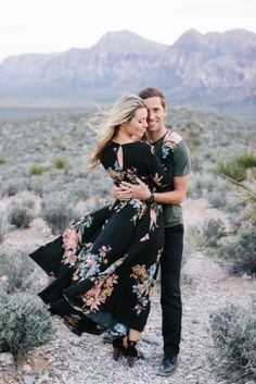 A Desert Engagement Shoot by M. Felt Photography | Engaged & Inspired Wedding Planning