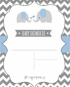 Baby Shower Invitations for Boys Tarjetas Baby Shower Niña, Juegos Baby Shower Niño, Imprimibles Baby Shower, Baby Shower Invitaciones, Baby Shower Signs, Baby Shower Invitations For Boys, Baby Shower Cards, Baby Boy Shower, Elephant Baby Showers