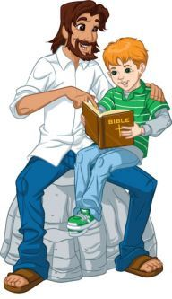 Jesus In Jeans - Teaching Boy Christian Comics, Christian Art, Jesus Artwork, Piggy Back Ride, My Superhero, Comic Pictures, Bible Art, Sunday School, Wall Stickers